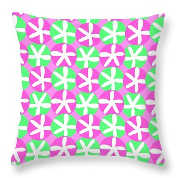 Flowers And Spots  Throw Pillow by Louisa Knight