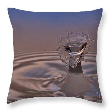 Fluid Flower Throw Pillow by Susan Candelario