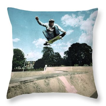 Fly High Throw Pillow by Yhun Suarez