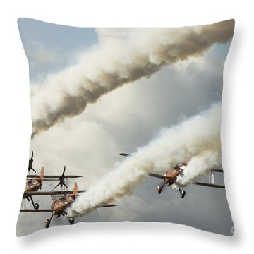 Flying Ballet Dancers Throw Pillow by Angel  Tarantella