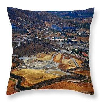 Flying Over Spanish Land II Throw Pillow by Jenny Rainbow