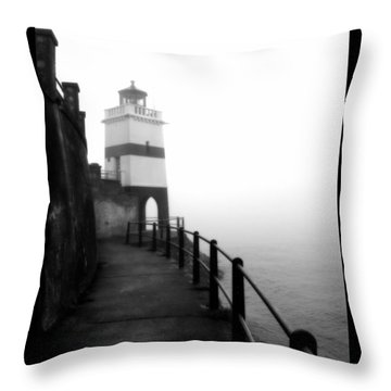 Foggy Day V-3 Throw Pillow by Mauro Celotti