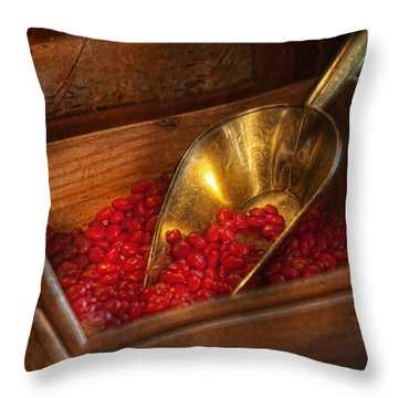 Food - Candy - Hot Cinnamon Candies  Throw Pillow by Mike Savad