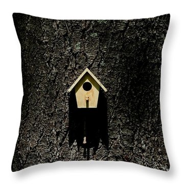 For Rent Throw Pillow by Barbara S Nickerson
