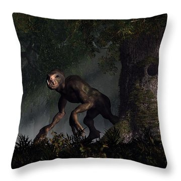 Forest Creeper Throw Pillow by Daniel Eskridge