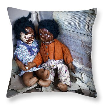 Forgotten Dolls Study IIi Throw Pillow by Norma Warden