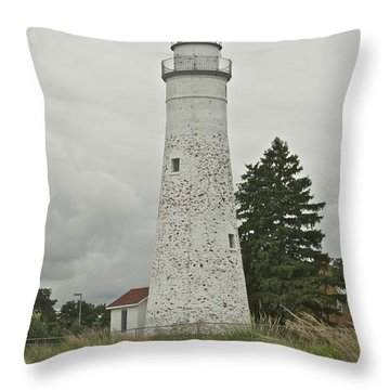 Fort Gratiot Lighthouse Throw Pillow by Michael Peychich