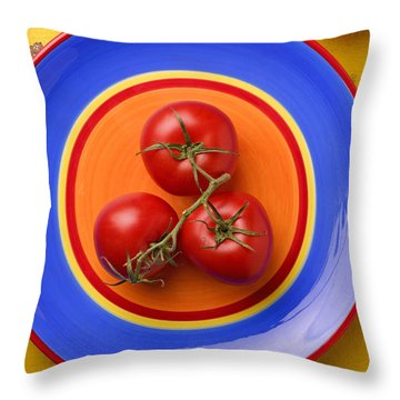 Four Tomatoes  Throw Pillow by Garry Gay