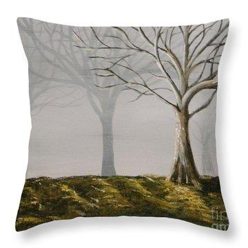 Four Trees Throw Pillow by Steven Dopka