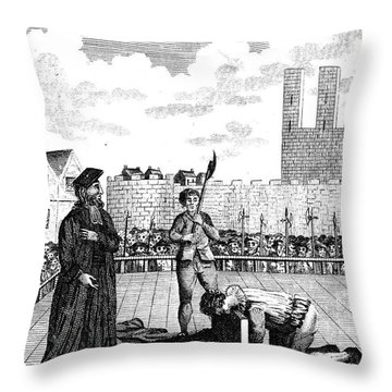 Foxes Book Of Martyrs Throw Pillow by Granger