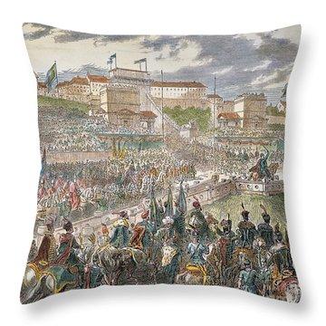 Francis Joseph I Of Austria Throw Pillow by Granger