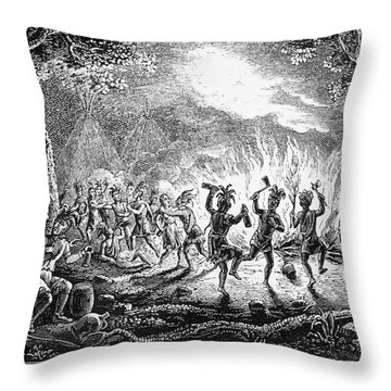 Franklin At Carlisle, 1753 Throw Pillow by Granger