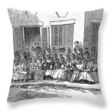 Freedmens School, 1868 Throw Pillow by Granger