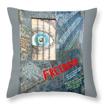 Freedom Throw Pillow by Ian  MacDonald