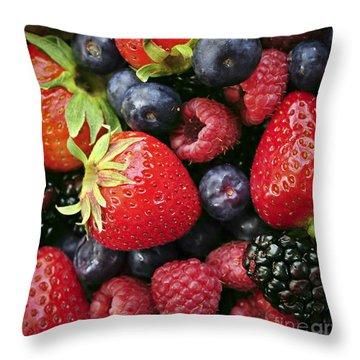 Fresh Berries Throw Pillow by Elena Elisseeva