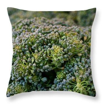 Fresh Broccoli Throw Pillow by Susan Herber