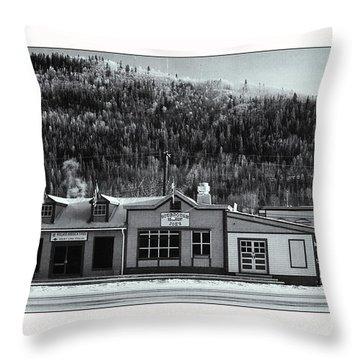 Front Street Throw Pillow by Priska Wettstein
