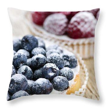 Fruit Tarts Throw Pillow by Elena Elisseeva
