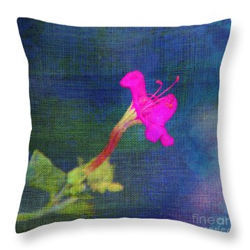 Fuchsia Flower Throw Pillow by Judi Bagwell