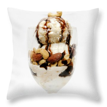Full Calories And Lots More Fun Throw Pillow by Andee Design