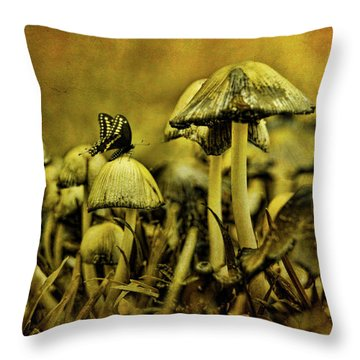 Fungus World Throw Pillow by Chris Lord