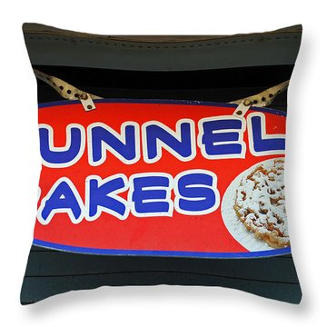 Funnel Cakes Throw Pillow by Skip Willits