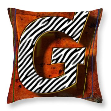 G Throw Pillow by Mauro Celotti