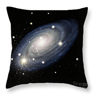 Galaxy Throw Pillow by Atlas Photo Bank and Photo Researchers