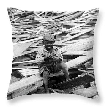 Galveston Flood Survivor - September - 1900 Throw Pillow by International  Images
