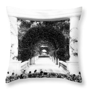 Garden Circles Throw Pillow by John Rizzuto