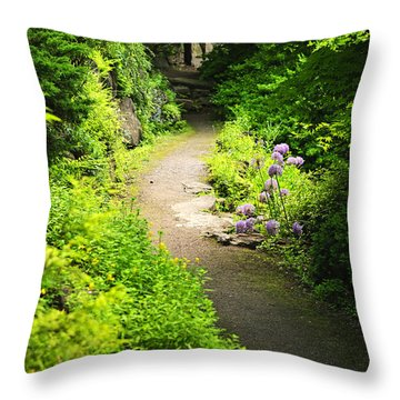 Garden Path Throw Pillow by Elena Elisseeva