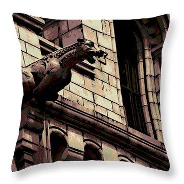 Gargoyle Throw Pillow by George Pedro