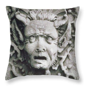 Gargoyle Throw Pillow by Simon Marsden