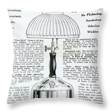 Gas Lamp Ad Throw Pillow by Omikron