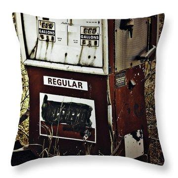 Gaspump  Throw Pillow by Jerry Cordeiro