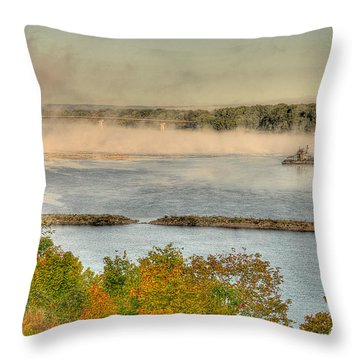 Gathering Wool Throw Pillow by William Fields