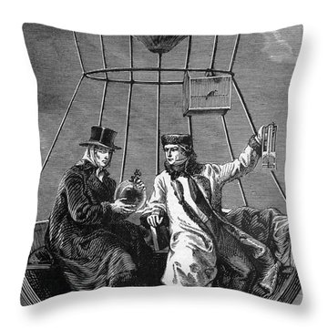Gay-lussac And Jean-baptiste Biot, 1804 Throw Pillow by Science Source