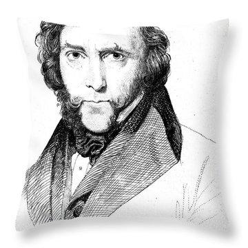 George Cruikshank (1792-1878) Throw Pillow by Granger