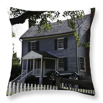 George Peers House Appomattox Virginia Throw Pillow by Teresa Mucha