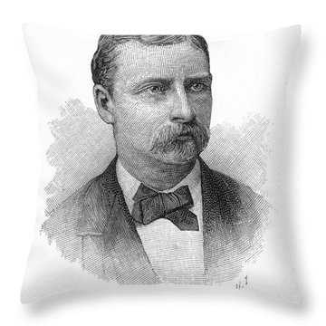 George W. Yates (d.1876) Throw Pillow by Granger