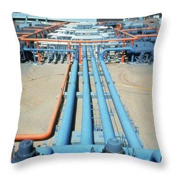 Geothermal Power Plant Throw Pillow by Science Source