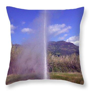 Geyser Calistoga Throw Pillow by Garry Gay