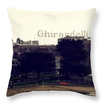 Ghirardelli Square Throw Pillow by Linda Woods