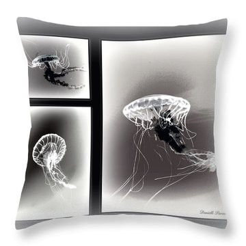 Ghostly Encounter Throw Pillow by Danielle  Parent