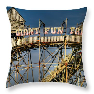 Giant Fun Fair Throw Pillow by Adrian Evans