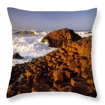 Giants Causeway, County Antrim, Ireland Throw Pillow by The Irish Image Collection