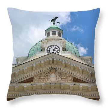 Giles County Courthouse Details Throw Pillow by Kristin Elmquist