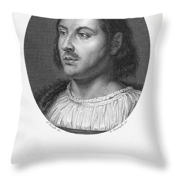 Giovanni Boccaccio Throw Pillow by Granger