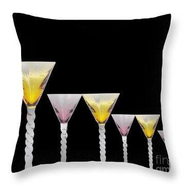 Glasses Throw Pillow by Cheryl Young