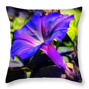 Glory Of The Morning Throw Pillow by Judi Bagwell